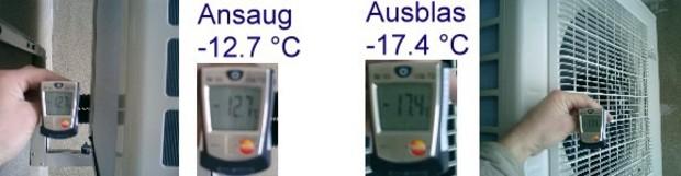 Wärmepumpe-Funktionsbeweis