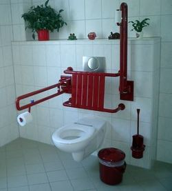 Barrierefreie Toilette